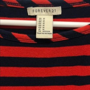 Forever 21 Dresses - Forever 21 red and navy striped dress, size M
